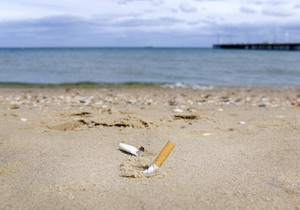 Don't leave cigarette butts on the beach - Stop Polluting the Water - Image courtesy of http://3.bp.blogspot.com/-JXHLDlgqAxc/Ta23uA3J0II/AAAAAAAAAD8/v3O-fVpdLIc/s1600/cigarette%2Bbutts%2Bon%2BBeach.jpg