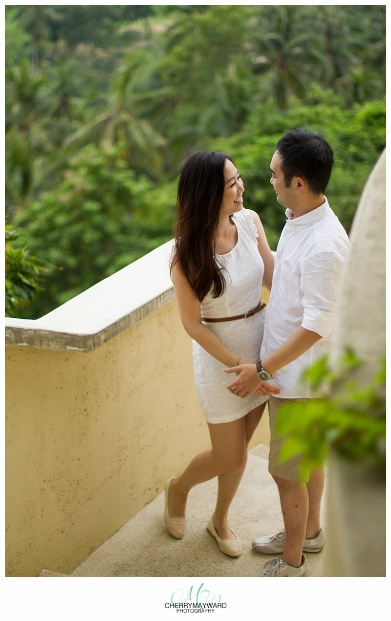 Beautiful view, couple photos, engagement photos on Koh Samui, villa serendipity, Koh Samui private villa, Thailand engagement
