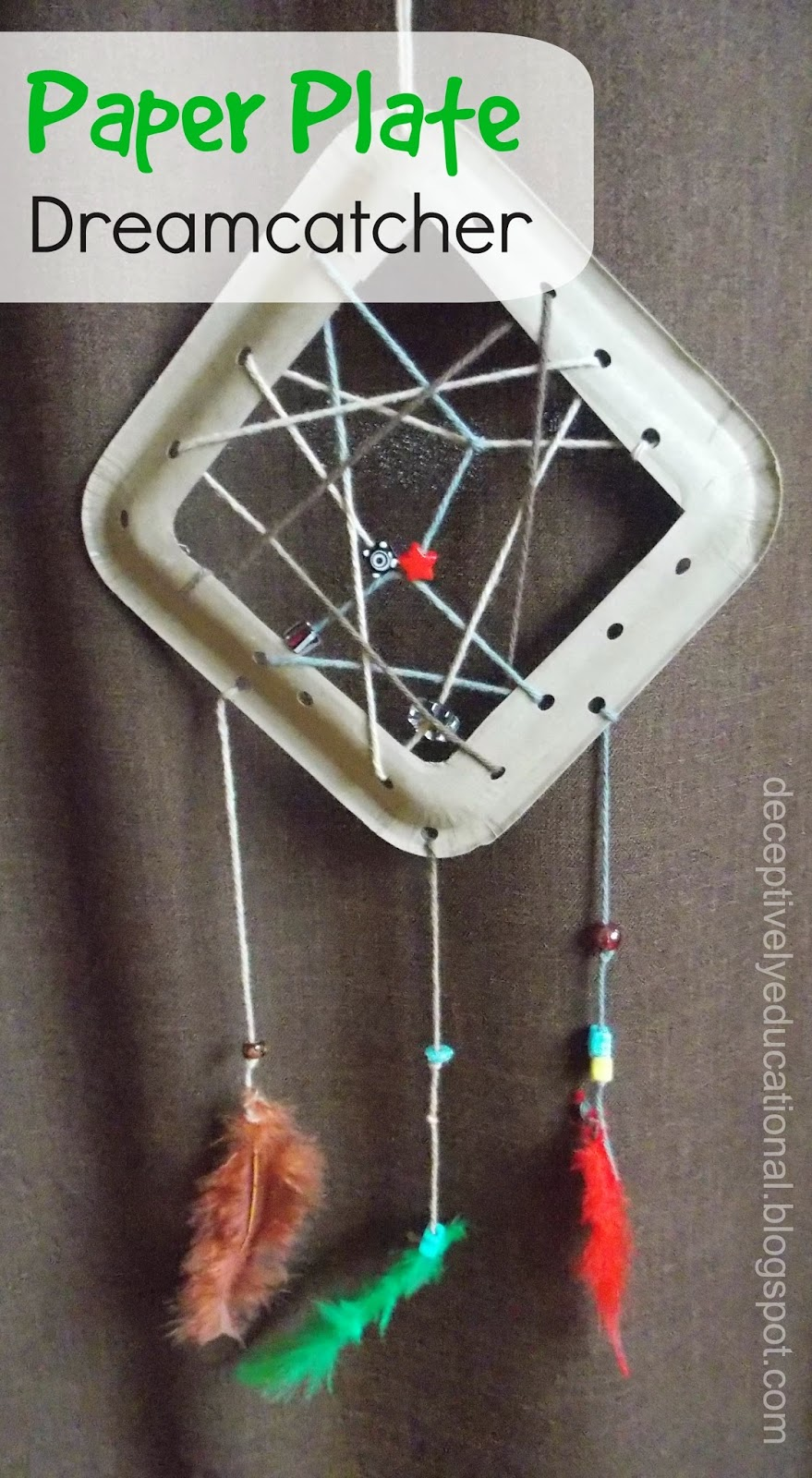 how to make a dreamcatcher out of paper