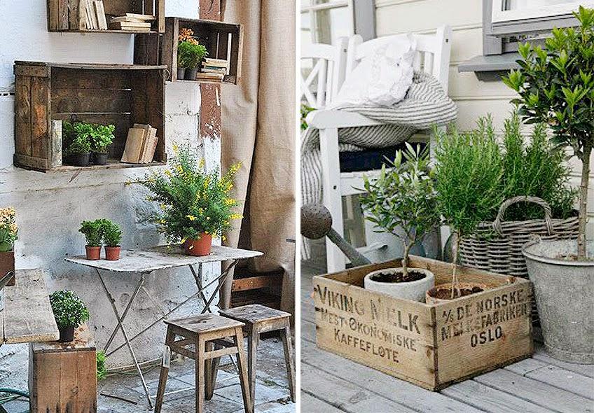 Cajas de madera decorativas para exterior
