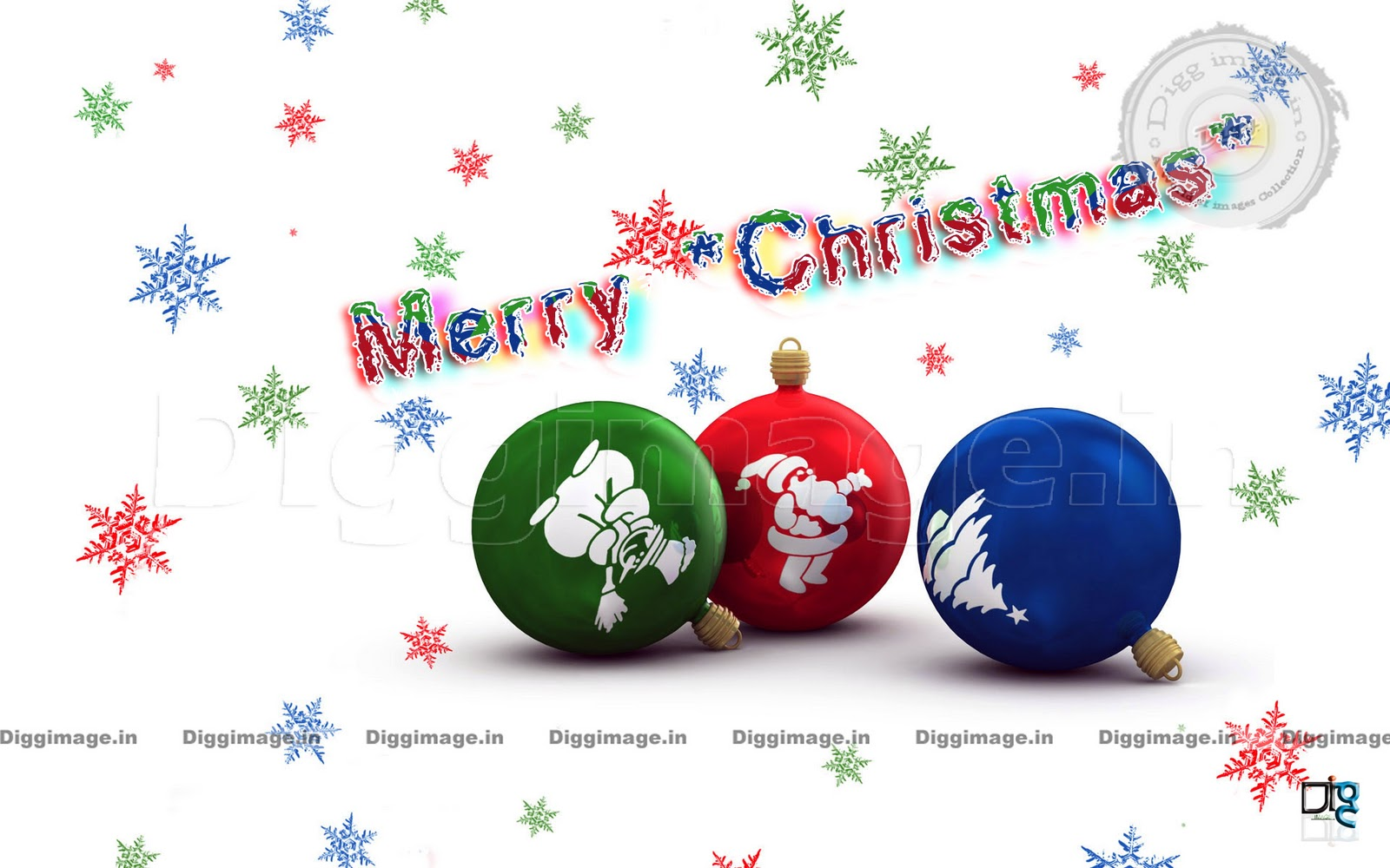 Multi Colored Wallpaper With 3d Bolls And Stars In Hd Wishing Merry