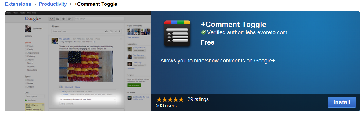 hide/show comments on Google+. | News, tips and tricks for Google plus