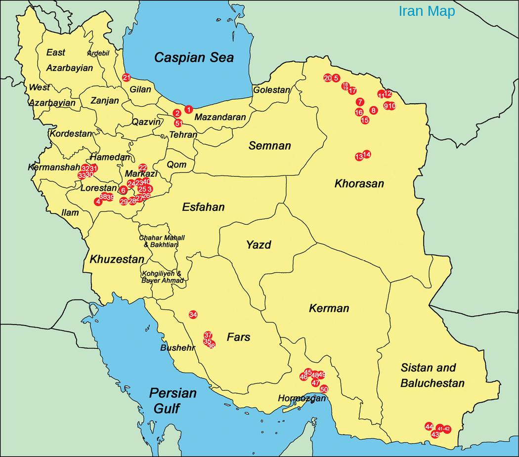 A Map Of Iran: City in Isfahan Iran Map, Iran Map, Iran Iraq ...