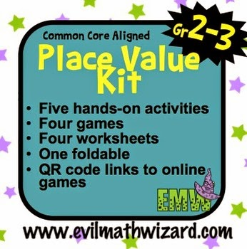 http://www.teacherspayteachers.com/Product/Place-Value-Kit-15-Activities-Worksheets-Games-QR-Codes-2NBT1-885399