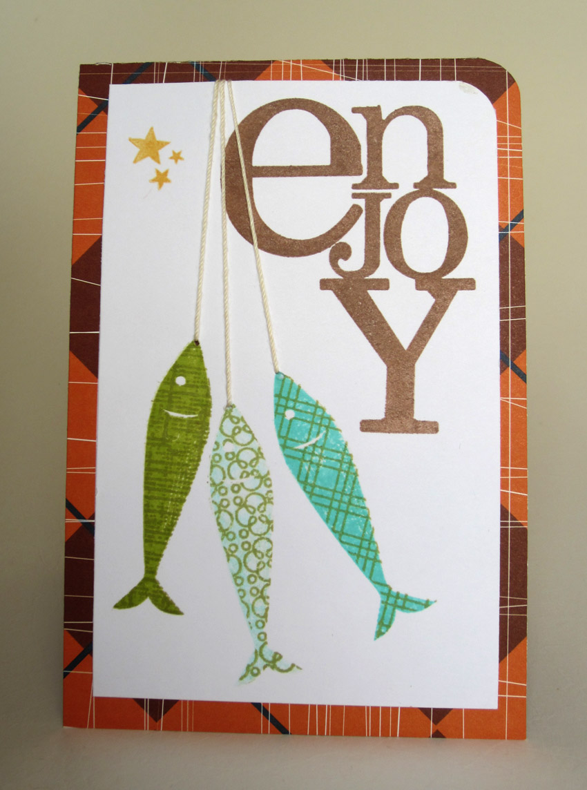 Notable nest hanging fish masculine card kristyandbryce Choice Image