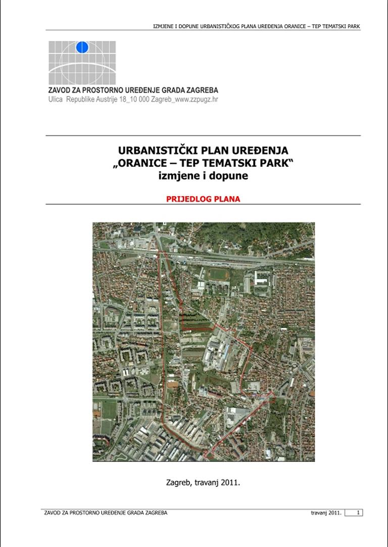 Physical Planning In Zagreb Urbanistic Plan Made By City Bureau For Physical Planning