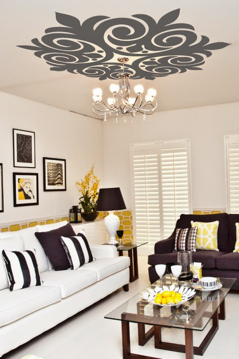 Scroll Ceiling Art Decals