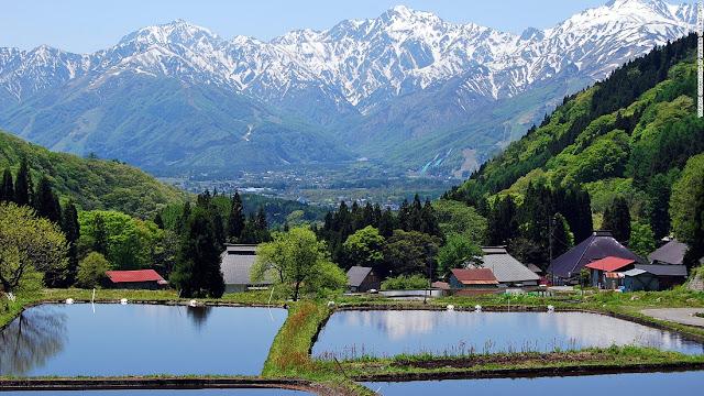 Northern Alps, giá vé máy bay đi Nhật