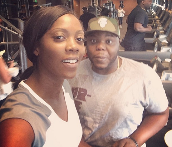 Pics: Davido hangs out with Jennifer Hudson in LA + Tiwa at the gym2