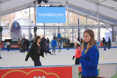 Bargelona ice skating rink in Barcelona