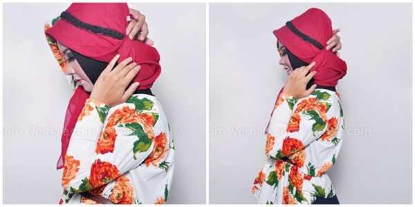 Tutorial Cantik Kerudung Merah