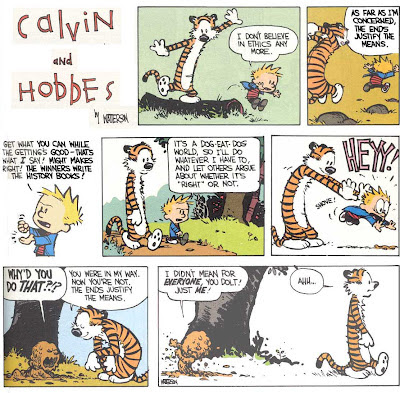 Calvin and Hobbes ethics morality comic strip