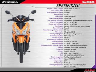 Spesifikasi Resmi Honda Vario 125 PGM-FI ePS