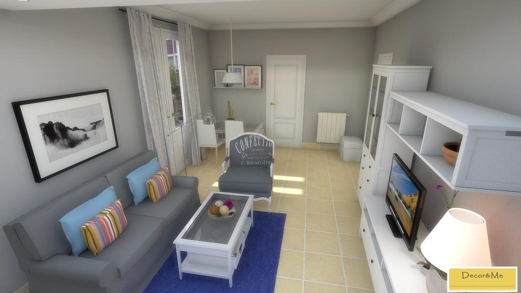 Decor me proyecto de sal n y dormitorio de estilo actual - Muebles el corte ingles salones ...