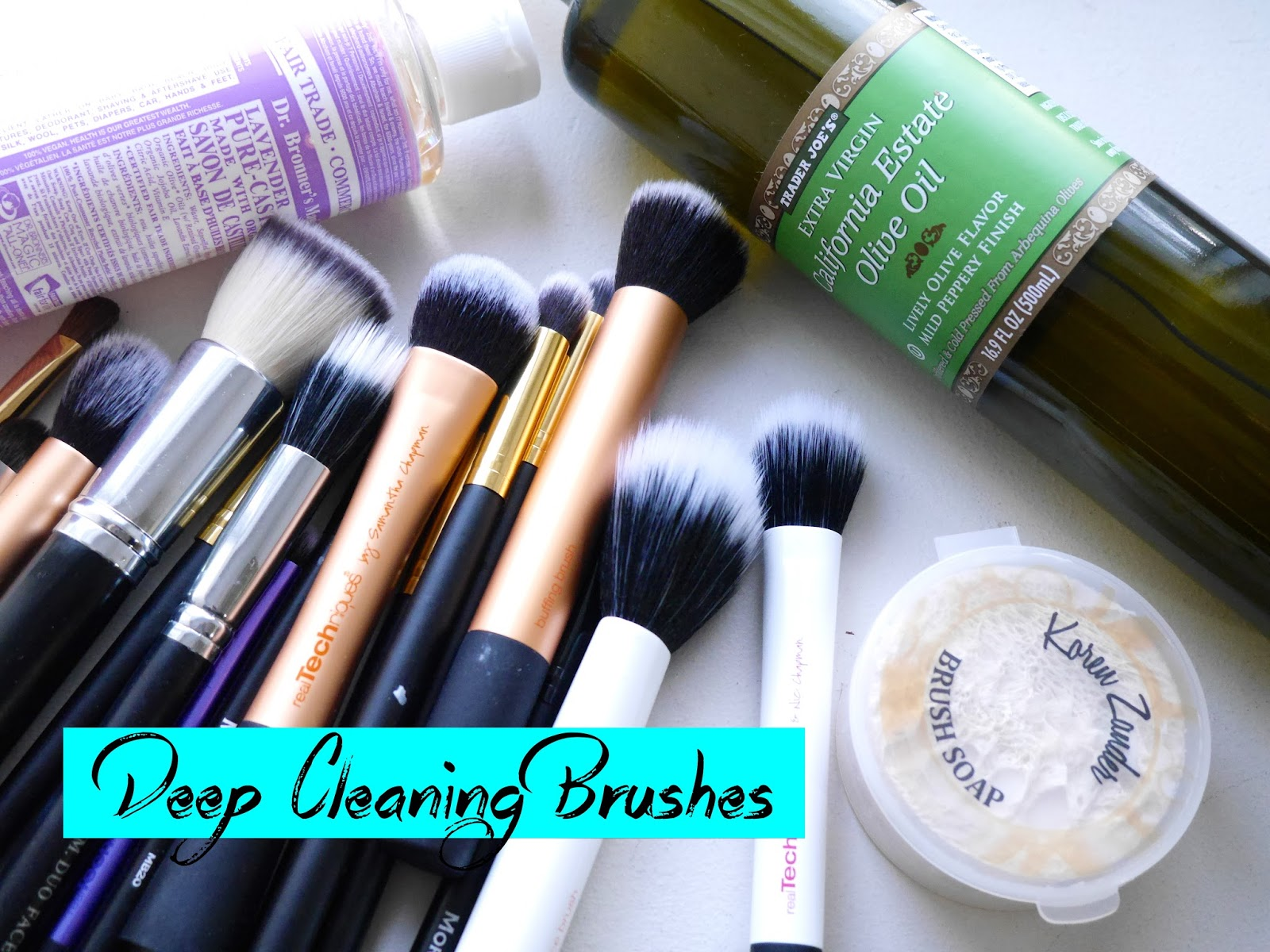how to deep clean brushes