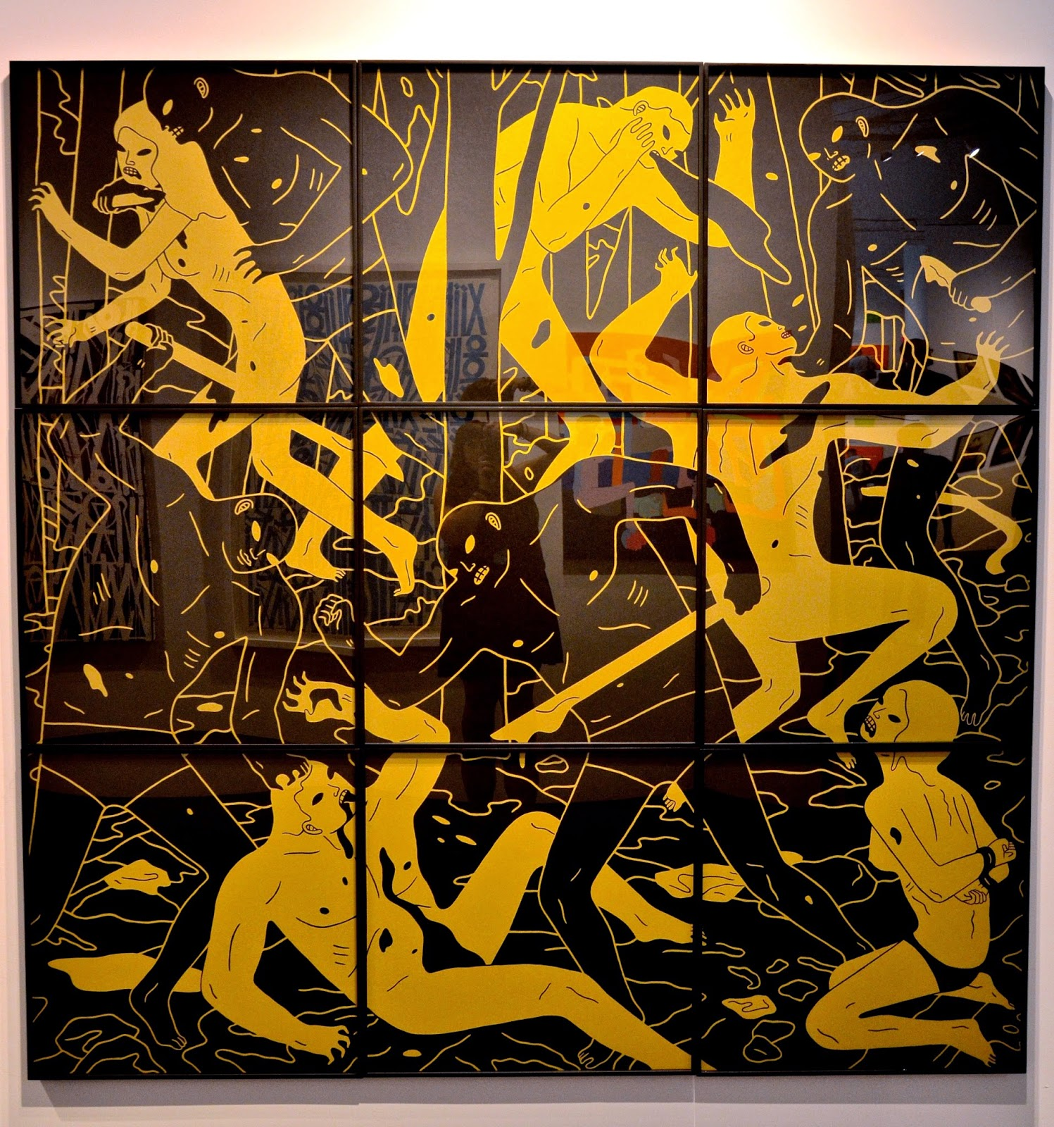 Cleon Peterson Judgment 2014 72 X 72 Inches New