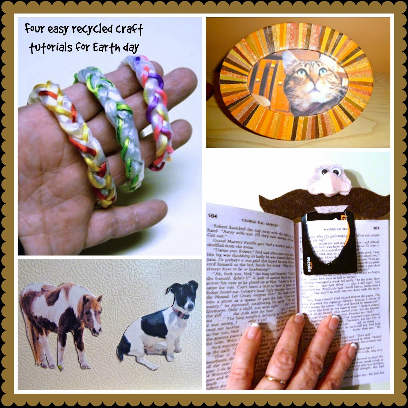 Four recycled crafts for Earth Day