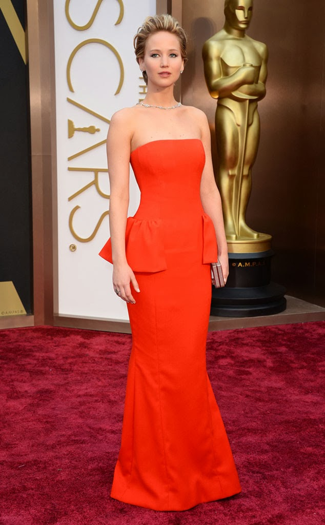 Jennifer Lawrence Academy Awards 2014 Red Carpet Oscars Celebrity Melanie.Ps blogger Toronto The Purple Scarf