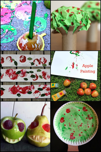 Apple themed crafts for kids