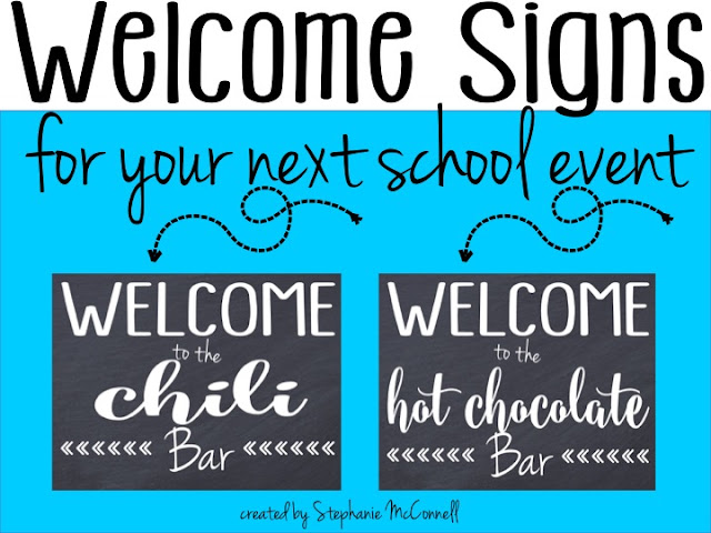 https://www.teacherspayteachers.com/Product/Welcome-to-our-buffet-and-bar-sign-school-event-2124912