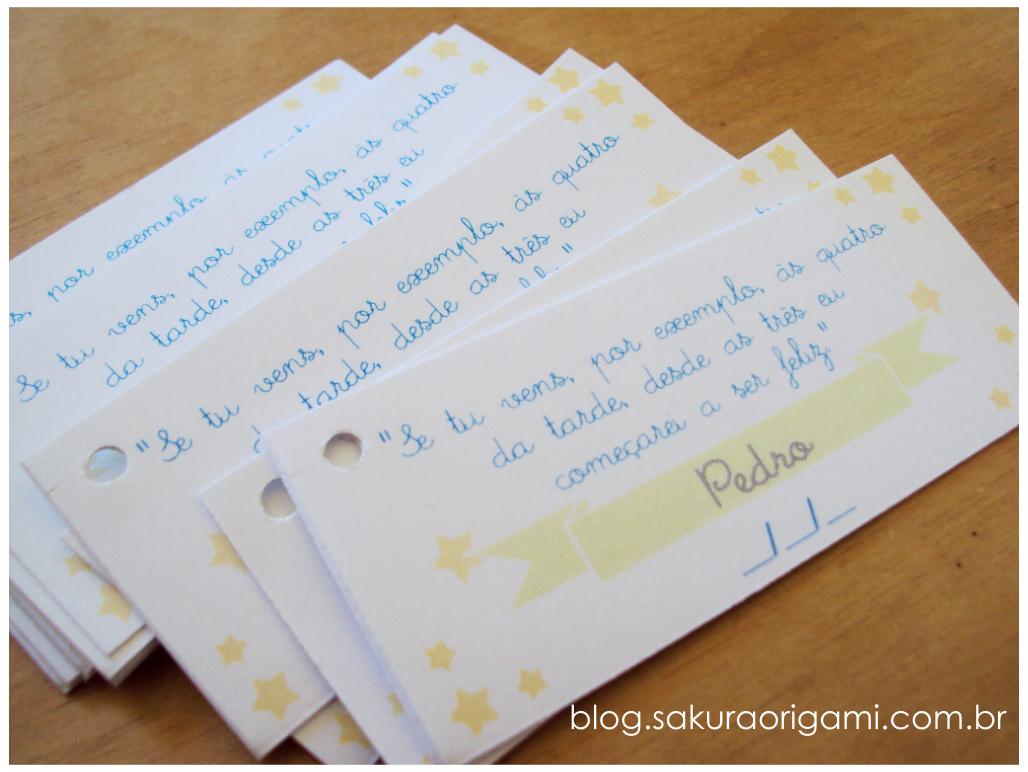 Frases Do Pequeno Príncipe Para Lembrancinhas Sakura Origami Ateliê