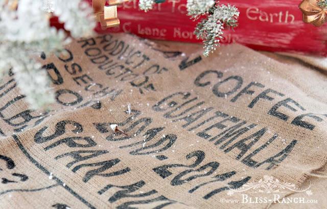 Coffee Sack Tree Skirt, Bliss-Ranch.com