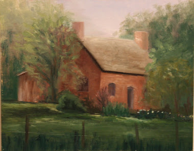 """house on Main"" Plein air, midway-utah, july 2001"