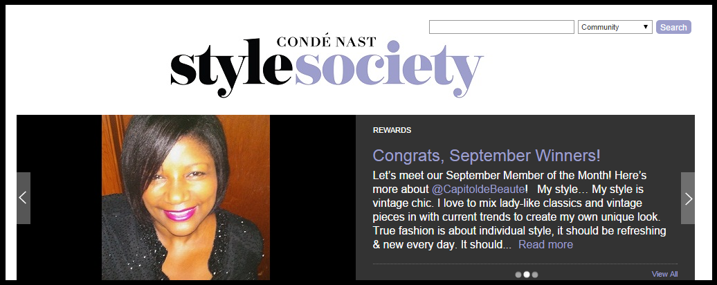 Conde Nast Style | Member of the Month