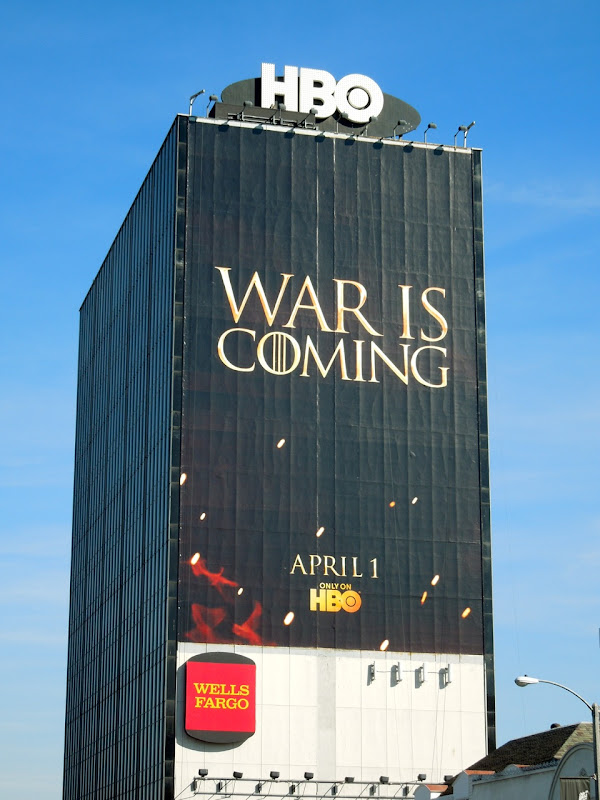 Game of Thrones season 2 teaser billboard