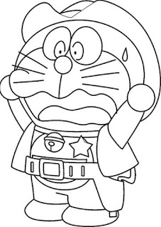 Sketsa Gambar Mewarnai Doraemon 201613