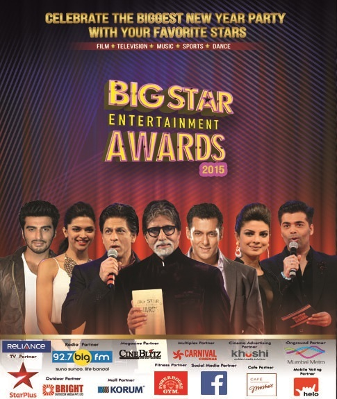 'Big Star Entertainment Awards 2015' Upcoming Star Plus Award Show |About |Nominee |Category - Film |Winners 2014 |Timing |Host |Vote