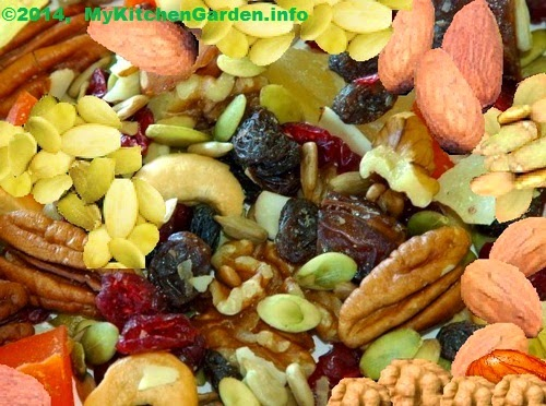 Nuts and seeds are concentrated sources of vitamin E, potassium, magnesium, iron, zinc, copper, selenium, unsaturated fats and omega-3 fatty acids and antioxidants.