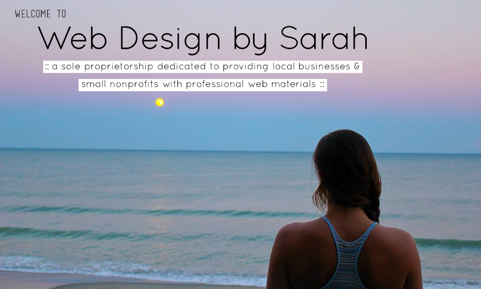 Web Design by Sarah provides affordable web solutions to small nonprofits and local businesses in the Indianapolis area. Request a free consultation today.