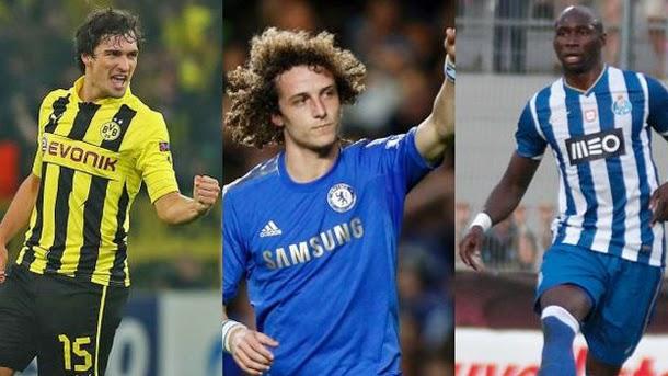 Hummels, David Luiz, Mangala, Vermaelen, Laporte o Schär son algunos de los futuribles