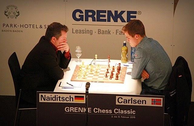 Naiditsch- Carlsen, Tercera Ronda Grenke Chess Classic 2015