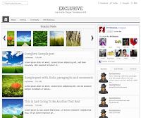 beautyful responsive blogger template : ExcluSive