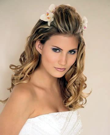 Simpla wedding hairstyles Updos For Medium Length Hair Bridal Half Updo for