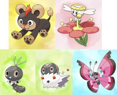 Pokemon X Y Characters Shauna Tierno Trevor Viola Pansy