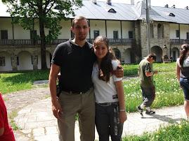 Împreună cu eleva  Mădălina Ţurcanu la M-rea Neamţ, 22.V.2011...