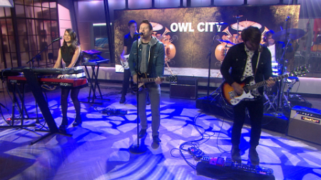 """Owl City and Hanson performed """"Unbelievable"""" on the Today Show on July 14, 2015."""