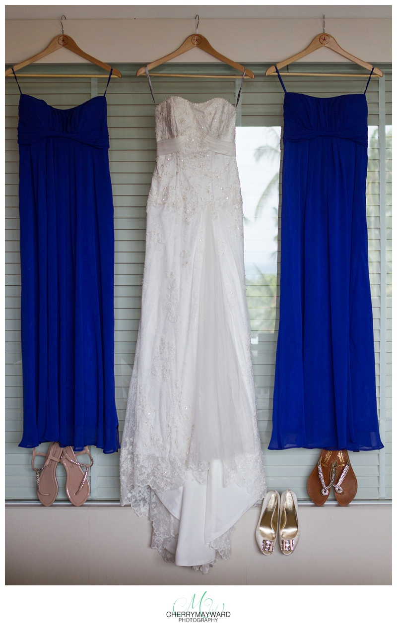 wedding dress and bridesmaids dresses in Thailand, Koh Samui wedding