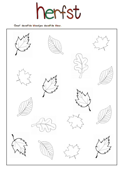 juf shanna thema herfst werkbladen