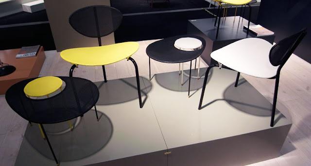 Nagasaki Stuhl mit Kangourou Tisch von Mathieu Matégot