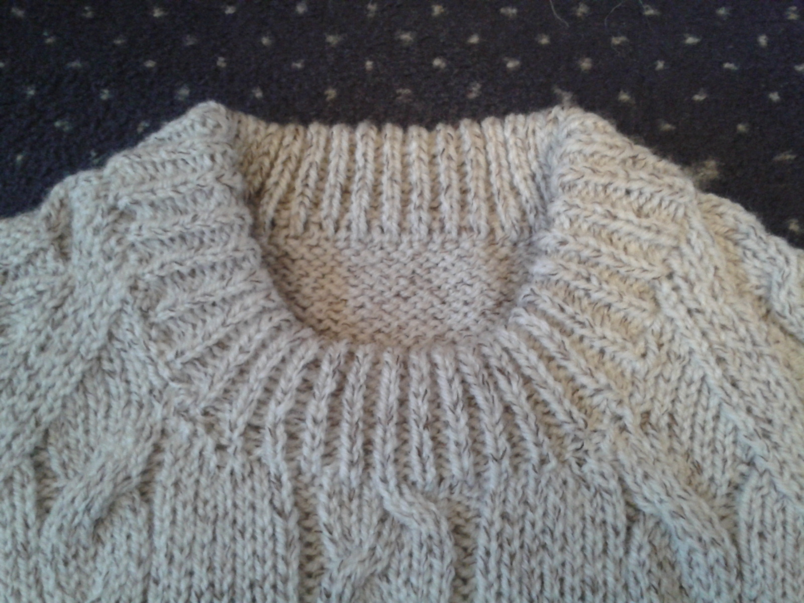 Fully Fashioned Knitting Machines : Alex s machine knitting cricketer cable sweater completed