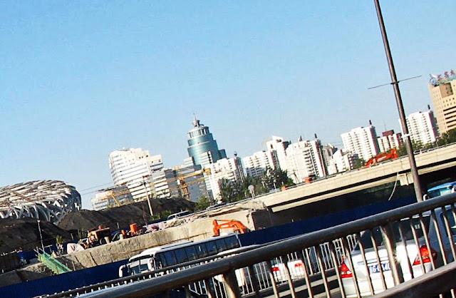 Beijing buildings from bridge