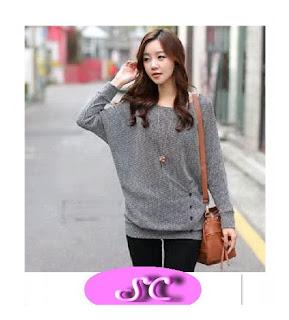 grosir baju rajut model grey trend