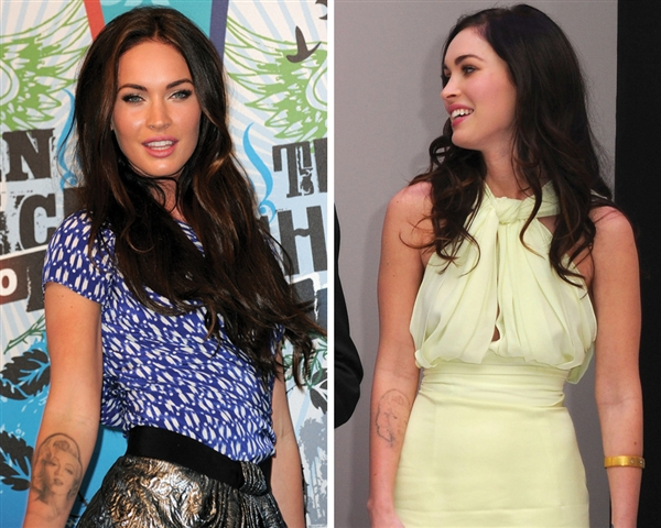 megan fox tattoos marilyn. megan fox tattoos marilyn