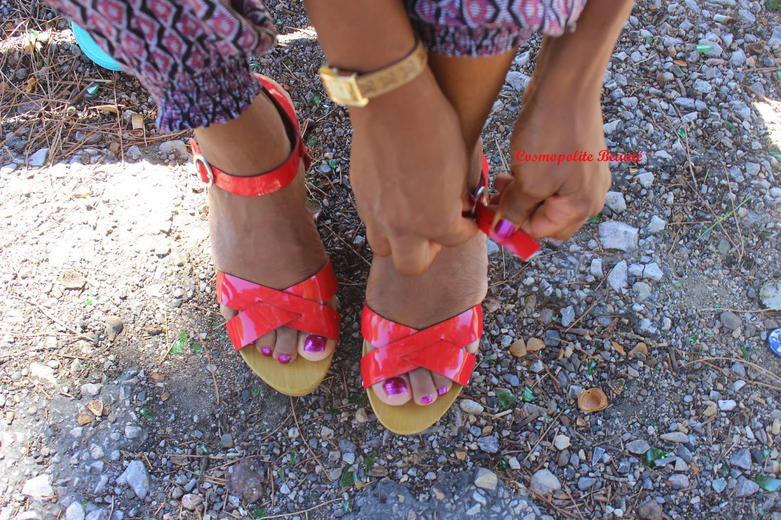 tenue, chaussures compensées, tenue, maquillage, chaussures, primark, bala bosté, louis vuitton, revlon, ysl, urban decay, gemey, UNE, l'oréal, sleek