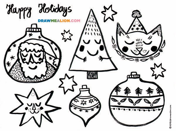 Free Download: Colouring Ornaments!