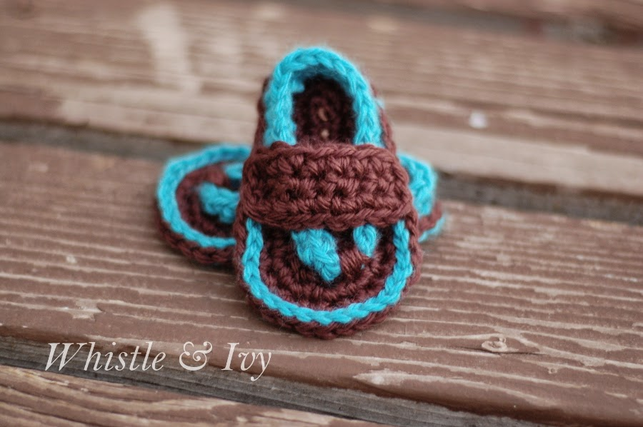 How To Crochet Baby Flip Flop Sandals/ Video and Free ...